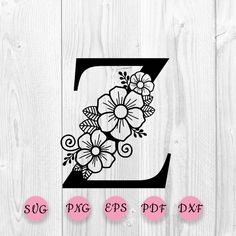 Flower Svg, Star Flower, Flower Alphabet, Wood Burning Patterns, Cool Lettering, Floral Letters, Craft Patterns, Embroidery Designs, Things To Sell