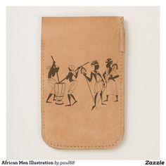 African Men Illustration iPhone 6/6S Case