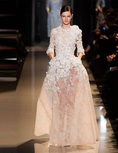 Intricate detail and sheer layering from Elie Saab 2013