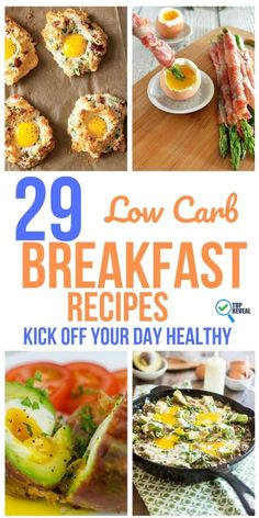 29 Low Carb Breakfast Recipes: Kick Off Your Day Healthy - Keto Diet Recipes - Keto Diet Breakfast, Healthy Breakfast Recipes, Breakfast Options, Healthy Recipes, Dinner Healthy, Low Carb Recipes, Diet Recipes, Recipes Dinner, Low Carb
