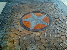 Thrifty DIY Diva - a girl's guide to frugal living. Concrete Overlay, Stamped Concrete, Kitchen Sink Interior, Carpet Padding, Texas Star, Compass Rose, Best Carpet, Entry Foyer, Stone Tiles