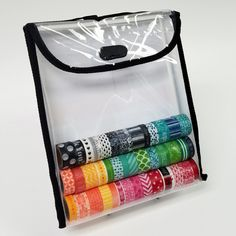 """Who doesn't love a washi tape rainbow? 41 rolls of washi tape and my 1"""" Stamp and Punch  Pack isn't even half full."""