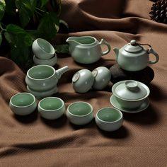 【森深旗舰店】森深 功夫茶具整套 陶瓷定窑套装 汝窑骨瓷精品茶杯 茶盘配件可养