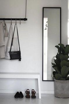 46 Modern Home Office Design Ideas – ZYHOMY - commercial architecture Minimalist Flat, Minimalist Kitchen, Minimalist Decor, Floor To Ceiling Windows, House Windows, Interior Exterior, Interior Design, Flur Design, Hallway Designs