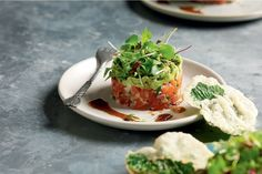 This Japanese-style salmon tartare is an impressive starter.
