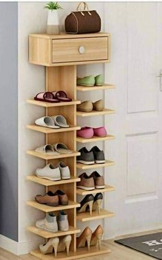 15 shoe storage ideas that you'll love - Creative Storage Diy Home Decor Projects, Home Improvement Projects, Home Crafts, Wood Projects, Decor Ideas, Woodworking Projects, Diy Crafts, Diy Ideas, Woodworking Garage