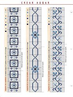 Solo Patrones Punto Cruz (pág. 3853) | Aprender manualidades es facilisimo.com Xmas Cross Stitch, Cross Stitch Bookmarks, Beaded Cross Stitch, Cross Stitch Borders, Cross Stitch Flowers, Cross Stitch Designs, Cross Stitching, Cross Stitch Embroidery, Cross Stitch Patterns