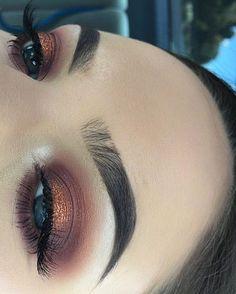 Eye Makeup Tips.Smokey Eye Makeup Tips - For a Catchy and Impressive Look Makeup On Fleek, Flawless Makeup, Cute Makeup, Eyebrow Makeup, Pretty Makeup, Skin Makeup, Eyeliner, Sweet 16 Makeup, Eye Brows