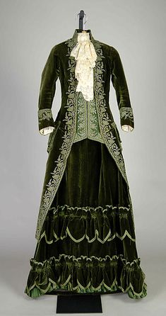 Promenade dress Designer: Emile Pingat (French, active 1860–96) Date: ca. 1888 Culture: French