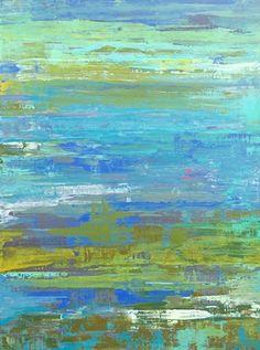 contemporary Abstract Art, surf, ocean, surfer, surfboard, beach art, beach decor, coastal decor, coastal, ocean art, circles, spheres, flowers, floral, jackson pollack, sunset, Ocean, modern, blue, orange, green, copper, turquoise, yellow, orange, contem