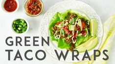 Ultimate Green Taco Wraps with Lentil-Walnut Taco Meat (Vegan + Gluten-Free) – Oh She Glows Vegan Gluten Free, Vegan Vegetarian, Vegetarian Recipes, Healthy Recipes, Healthy Gourmet, Healthy Tacos, Healthy Eating, Taco Wraps, Kitchens