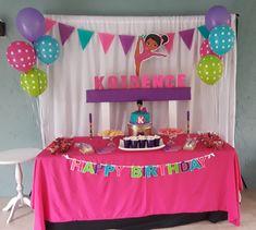 Zombie Birthday Parties, Ballerina Birthday Parties, Birthday Party Tables, 7th Birthday, Birthday Party Decorations, Gymnastics Birthday, Party Invitations, Party Time, Birthdays