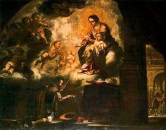 La Aparición de la Virgen a San Ignacio en Pamplona, óleo de Juan De Valdés Leal (1622-1690), España.