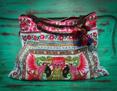 Oversize Embroidered Bag