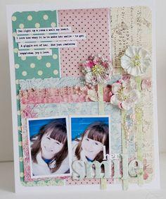 scrapbooking for girls, scrapbooking layout