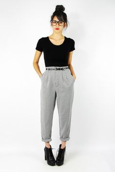 black Trashy Vintage pants