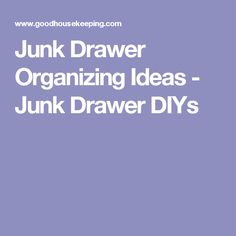 Junk Drawer Organizing Ideas - Junk Drawer DIYs