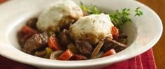 Hungry appetites to satisfy? Rely on homemade herb dumplings and a rich beefy stew all made in the slow cooker.