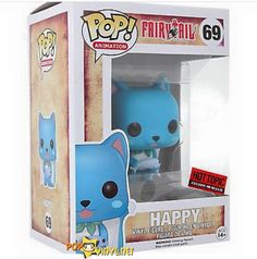 Happy from Fairy Tail is given a fun, and funky, stylized look as an adorable collectible Pop! vinyl figure from Funko! Cosplay Fairy Tail, Fairy Tail Anime, Anime Pop Figures, Pop Vinyl Figures, Choses Cool, Fairy Tail Happy, Funko Pop Anime, Pop Figurine, Pop Toys