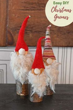These cute Norwegian Christmas gnomes are so easy to make and cost virtually nothing to make. 10 minutes for a fabulous handmade Christmas decoration. christmas gnomes Super Easy to Make Cute Norwegian Christmas Gnomes Handmade Christmas Decorations, Diy Christmas Ornaments, Diy Christmas Gifts, Simple Christmas, Advent, Norwegian Christmas, How To Make Paper Flowers, Christmas Gnome, Diy Weihnachten