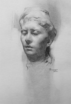 Stephen Bauman ~ Of a Portrait Study by Rodin (pencil)