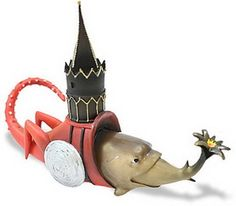 Ancient Treasures JB03 Fish With Tower from Temptation of St Anthony by Hieronymus Bosch