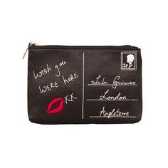 8d62eb50c461 Lulu Guinness Clutch Bag Diy Clutch, Clutch Bag, Denim Handbags, Black  Shoulder Bag