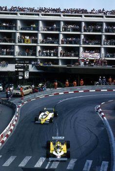 Alain Prost (Equipe Renault Elf), Renault RE30 - Renault-Gordini EF1 1.5 V6 / René Arnoux (Equipe Renault Elf), Renault RE30 - Renault-Gordini EF1 1.5 V6, 1981 Monaco Grand Prix, Circuit de Monaco