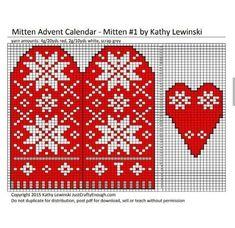 Jumper Knitting Pattern, Knitting Patterns, Mittens, Charts, Advent Calendar, Red, Christmas, Calendar, Glove