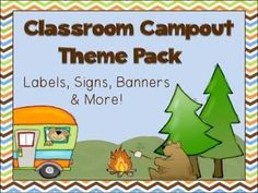 Camping Theme Classroom Pack - Forest Friends - Labels Ban