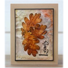 Serendipity Stamps Oak Leaf Outline & Acorn Dies and Leaves stamp ($1 Cling Stamp)