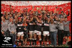 Congrats to Sharks rugby - Currie Cup champions! Such a fantastic match and a well-deserved victory! Proud to be a Sharks fan! Rugby Sport, World Rugby, Sports Fanatics, Shark Bites, Rugby Players, Where The Heart Is, Sharks, Athletes, Victorious