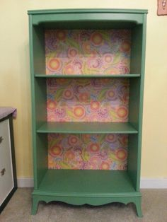 I bought a beat up bookcase at a rummage sale and turned it into this! #furniture #bookcase #upcycle