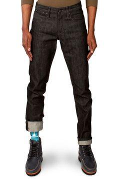 """Tall Slim Guys 40"""" inseam Raw Black Denim Jeans. Williamsburg ..."""