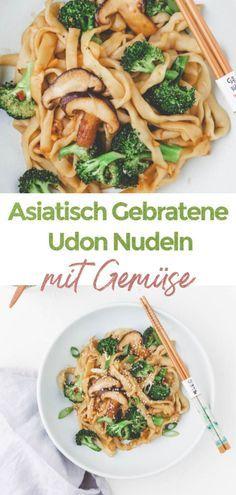 Easy Japanese Recipes, Vegan Recipes Easy, Veggie Recipes, Asian Recipes, Dinner Recipes, Udon Recipes, Japanese Vegetarian Recipes, Gourmet Recipes, Vegetarian Stir Fry