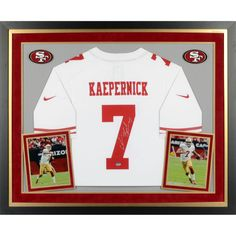 Colin Kaepernick San Francisco 49ers Fanatics Authentic Deluxe Framed Autographed Nike White Limited Jersey - $499.99