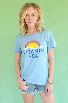 6e0f4af30 vitamin sea graphic tee, beach vibes, beach vacation, sunset Beach T Shirts,