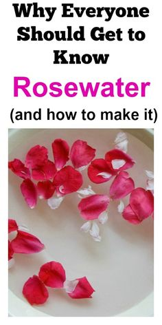 Why Everyone Should Get To Know Rosewater (and how to make it). Rosewater is amazing!: Why Everyone Should Get To Know Rosewater (and how to make it). Rosewater is amazing! Beauty Care, Diy Beauty, Beauty Hacks, Beauty Skin, Natural Skin Care, Natural Beauty, Natural Life, Diy Spa, Homemade Beauty Products