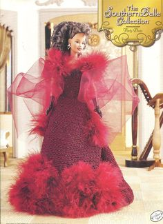 "The Southern Belle Collection - Party Dress - Annie's Attic Crochet Pattern Leaflet for 11 1/2"" Fashion Doll New Condition VeryMaryKnitCrochet 8.00 USD September 29 2015 at 01:27PM"