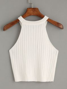Top tejido tank -blanco-Spanish SheIn(Sheinside)