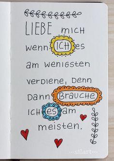 "Sketchbook Handlettering ""Liebe mich"""