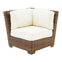 Panama Jack St Barths Modular Corner Chair with Cushions Fabric: Spectrum Almond