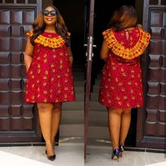 In Nigeria and other African countries that are into New Ankara Gowns it is slowly becoming a trending habit for women and young beautiful ladies Short African Dresses, Short Gowns, Latest African Fashion Dresses, African Print Dresses, African Print Fashion, Ankara Fashion, African Prints, Africa Fashion, Tribal Fashion
