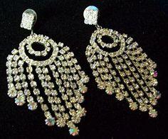 Vintage Bridal Rhinestone Earrings High by BrightgemsTreasures, $24.50
