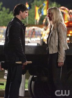"""""""Brave New World"""" - Ian Somerhalder as Damon, Candice Accola as Caroline in THE VAMPIRE DIARIES on The CW.  Photo: Quantrell Colbert/The CW  ©2010 The CW Network, LLC. All Rights Reserved."""