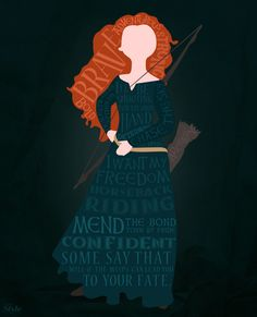 Merida typography, from online Disney blog. Click to follow the link.