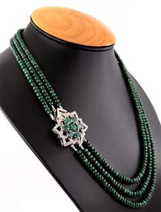 Source Emerald with Silver Clasp Gemstone Necklace in Houston on m.alibaba.com