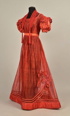 Dress and tippet ca. 1828 From Whitaker Auctions