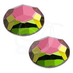 Iron On Flat Back Crystals Lead Free High Quality 6mm 10mm Chessboard Circle Flat Back Hotfix Rhinestones 8mm