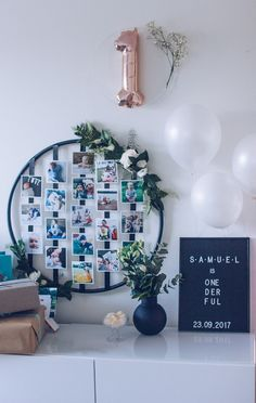 Baby Room, Party Time, Photo Wall, House Design, Birthday, Frame, Kids, Babys, Design Ideas